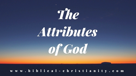 God's Natural and Moral Attributes