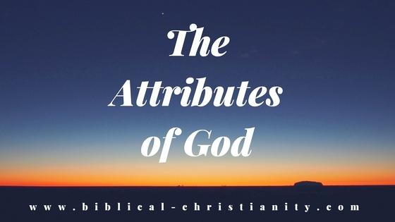 God's Natural and Moral Attributes