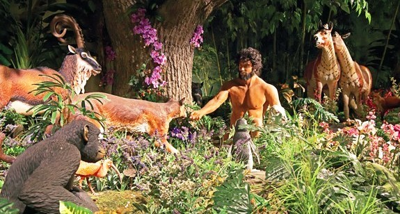 Adam and the animals in the Garden of Eden