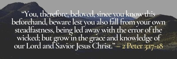 How to grow in the grace and knowledge of our Lord