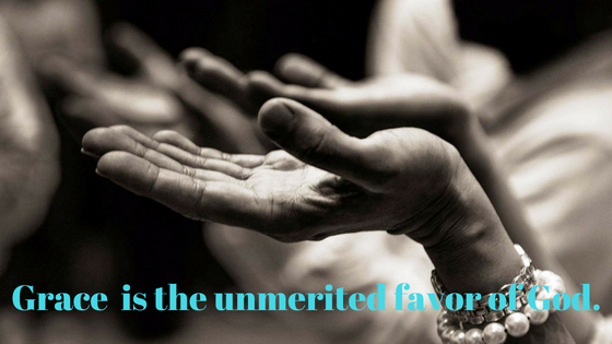 Grace: the unmerited favor of God