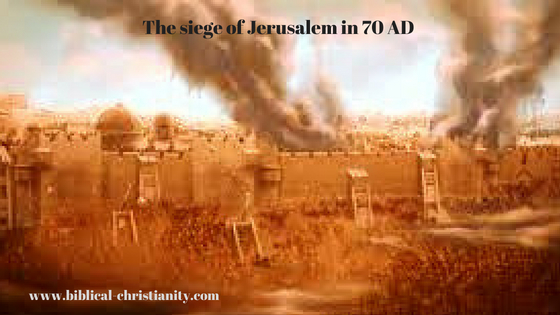 The siege of Jerusalem in 70 AD
