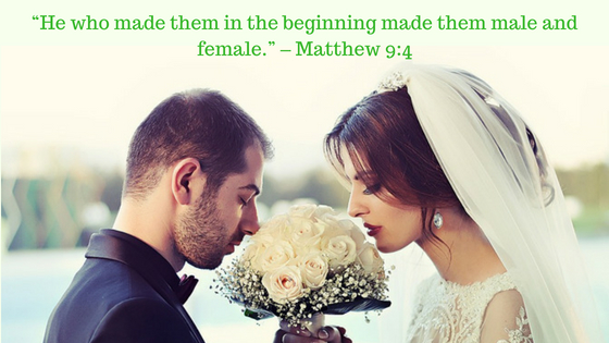 Marriage is between one man and one woman