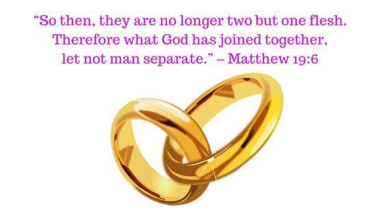What God has joined together, let not man separate