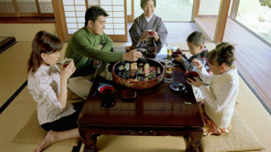 Customary Jewish or Japanese Dining