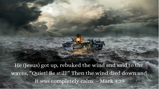 Jesus is the calm at the center of my storm