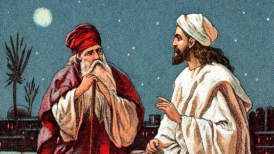 Jesus teaches Nicodemus the importance of being born again
