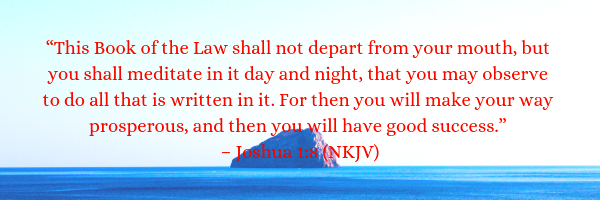 Joshua 1:8 NKJV