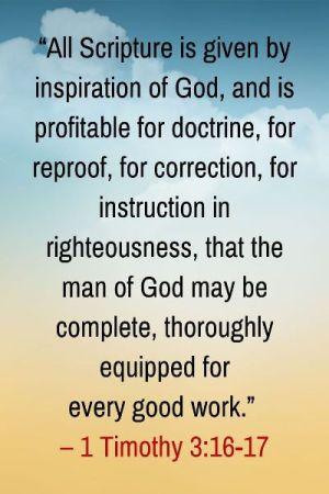 2 Timothy 3:16-17