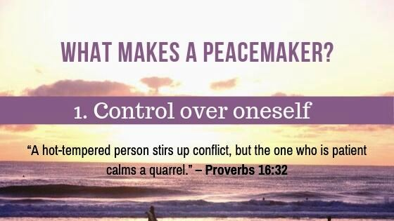 4 Ways to become a Peacemaker