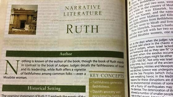 A Summary of the Book of Ruth