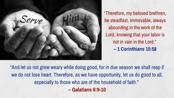 Do not weary doing good to others