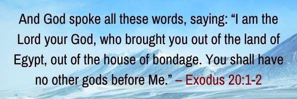Exodus 20:1-2