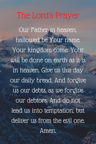 The Lord's Prayer Matthew 6:9-13