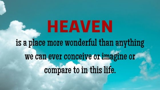 Quote about Heaven