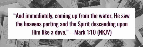 Mark 1:10 (NKJV)