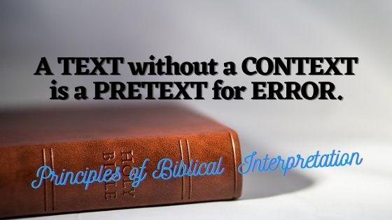 Hermeneutics: Basics of Bible Interpretation