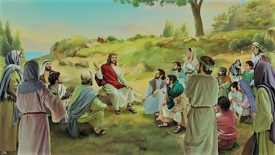 Jesus Teaches His Disciples